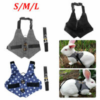 Small Animals Harness Leash Cat Puppy Ferret Squirrel Rat Rabbit Clothes S/M/L