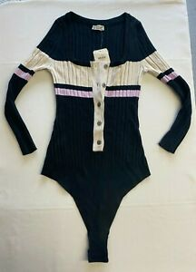 Free People Knit Long Sleeve Bodysuit Size XS Brand New With Tags UK Seller