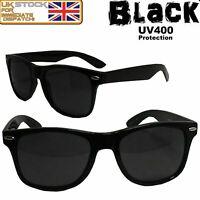 New Retro 80s Fashion Men's Women's Classic Polarized UV400 Sunglasses - Black