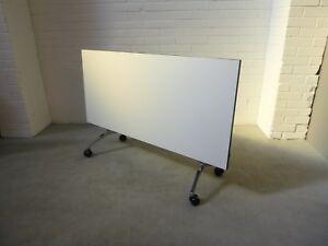 Office/Home Mobile Folding Table White Melamine 37009