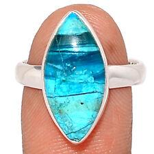 Rare Peru Opaline 925 Sterling Silver Ring Jewelry s.8 BR109584