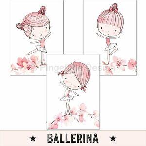Kinderzimmer Poster Mädchen Deko Kinderbilder Baby Wandbilder Bilder rosa