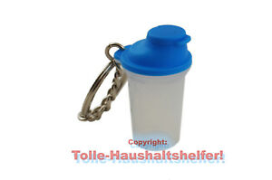 Tupperware® Schlüsselanhänger Shake-It blau *Rarität* NEU+OVP
