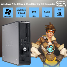 Windows 7, DELL, Core 2 Quad Gaming PC Computer - 16GB DDR3 - 1000GB HDD-HDMI