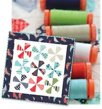 DILLY DALLY QUILT KIT - Moda DAYSAIL fabric + Set of 7 AURIFIL THREAD SPOOLS