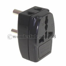 INDIA, Sri Lanka 3 Multi Outlet Type D Electrical Power Plug Travel Adapter