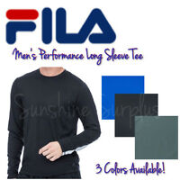Fila Men's Performance Long Sleeve Tee - Moisture Wicking - Ultra Soft