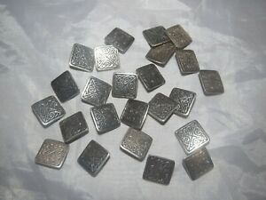 "STERLING SILVER 925 LOT OF 24 Tested Sterling 3/4"" Buttons 69.20 grams"