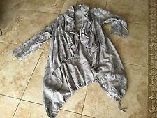 BRYN WALKER Lagenlook anorak 3/4 plaid sutash drawstring linen jacket size L