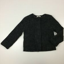 17d2f846 NWT Zara Girls Soft Collection Sz 8T Dark Gray Wool Blend Mohair Jacket Coat  ZT5
