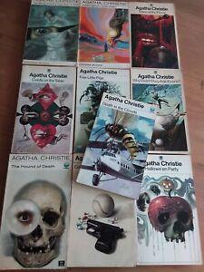 Vintage Agatha Christie Paperbacks. Tom Adams. Fontana 1970s. Lot of 10.