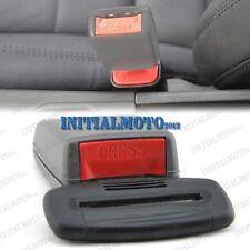 2X Gray Car Seat Belt Extender Safety Eliminator Alarm Stopper Buckle Press Clip