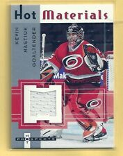 KEVIN NASTIUK 05-06 FLEER HOT PROSPECTS GAME WORN JERSEY CAROLINA HURRICANES