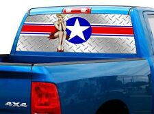 P468 USAF Air Force Rear Window Tint Graphic Decal Wrap Back Pickup Graphics