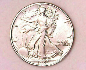 1943 Walking Liberty Half Silver $ 50¢ Dollar Extremely Fine Details