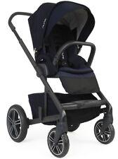 Nuna Baby Mixx2 Compact One Hand Fold Single Stroller Indigo w Rain Cover Mixx 2