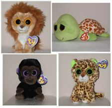 "NWT Ty Beanie Boo 6"" Speckles leopard / Lion King / Zippy turtle / Romeo gorilla"