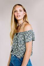Polyester Floral Topshop Cropped Tops & Shirts for Women