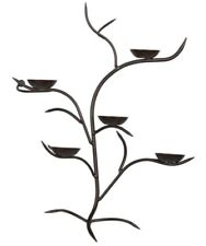 NEW Crate & Barrel Wall Sconce Candle Holder Bronze Metal Branches Vine SOLD OUT