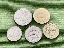 5 Münzen Island - alle in Umlauf befindliche Wertstufen - KMS lose