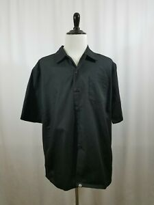 Chef Works Chef Shirt Men's size XL Black Culinary Shirt