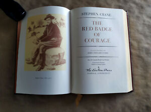 Crane, Stephen THE RED BADGE OF COURAGE Easton Press 1st Edition 1st Printing