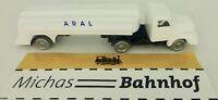 Aral Tracteurs et Remorques Blanc Bleu Camion Citerne Magirus imu Réplique Série