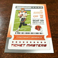 """2020 Rookie & Stars JOW BURROW """"TICKET MASTERS (RED Parallel) Rookie RC """"SWEET"""""""