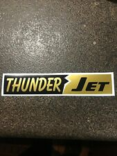 "2""X 9"" Vintage (Remake) Sno-Jet THUNDER JET Sticker Black, White and Gold Vinyl"