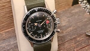 1960s Vintage Watch, Croton Chronomaster CHRONOGRAPH - AVIATOR SEA DIVER