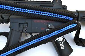 Tactical 550 Paracord Rifle Gun Sling Single Point Quick Detach THIN BLUE LINE