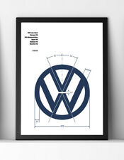 VW Print | Volkswagen Illustration | VW Badge | VW Transporter Art
