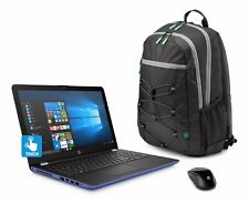 "NEW HP 15-BW033WM 15.6"" TouchScreen Laptop AMD Quad A12-9720 8GB 1TB BUNDLE BLUE"