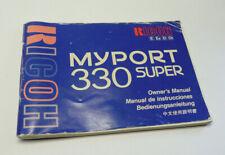 Original User Instruction Manual for Ricoh MyPort 330 Super Camera