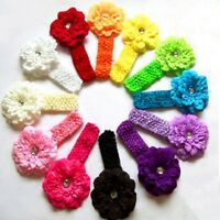 12pcs Girl's Cute Baby Infant Toddler Flower Headband Hair Bow Band Accessories
