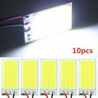 10x White COB Led Panel Dome Light Interior Lamp 12V T10 Festoon Adapters Kits