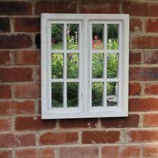 Espejos decorativos blancos rectangulares de vidrio para el hogar