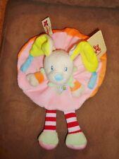 Dog Pink Heart Orange Belgium Nicotoy Baby Security Blanket Plush Rattle Lovey