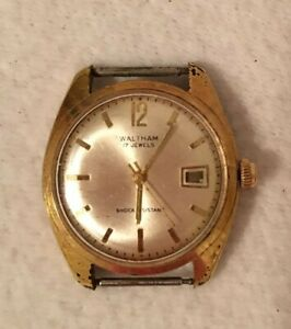 Vintage Waltham Watch Men's  - 17 Jewels - Running Wrist Watch Shock Resistant