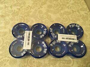 8 NEW ATOM PULSE Outdoor Roller Skate Wheels BLUE 78A 65MM