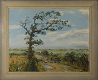 Colin Spring - Large Mid 20th Century Oil, Lonely Tree in a Landscape