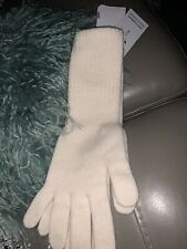 THE SCARF COMPANY SCOTLAND LAMBSWOOL Long CREAM GLOVES BNWT