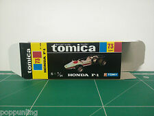REPRODUCTION BOX for Tomica Black Box No.73 Honda F-1