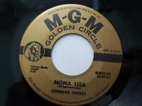 """CONWAY TWITTY - Mona Lisa / Danny Boy 1959 COUNTRY ROCK & ROLL  7"""" MGM"""