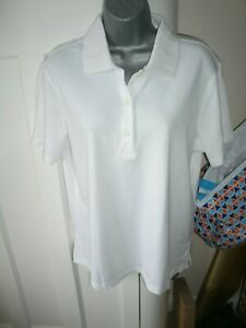 NEW WITH TAGS LADIES PGA TOUR GOLF  WHITE  POLO SHIRT - QUICK DRY TOP Size 16/18