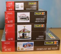 Faller 140341, 140329, 140445, 140442, Spur H0, Bausatz Kirmes-Paket 3