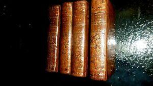 MONTESQUIEU-L'ESPRIT DES LOIS-4 VOLUMES COMPLET-1787-EDITIONS CAZIN-RELIE-