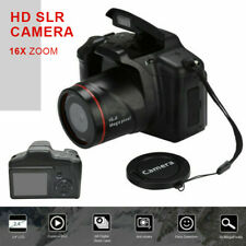 Black Digital SLR Camera 3 Inch TFT LCD Screen 16MP HD 1080P 16X Zoom Anti-shake