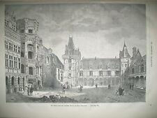 CHATEAU DE BLOIS BOEUF GRAS CARNAVAL A PARIS BARON SINA ATTELAGE GRAVURES 1868