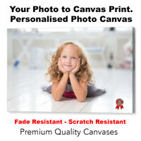 Your Photo on Framed Canvas, Personalised Canvas Box Art - A4, A3, A2, A1,